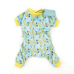 CuteBone Dog Pajamas Banana Dog Apparel Dog Jumpsuit Pet Clothes Pajamas P06(M)