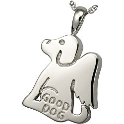 Memorial Gallery Pets 3200s Good Dog Sterling Silver Cremation Pet Jewelry