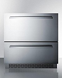SP7D2 30 Drawer Refrigerator with 5.3 cu. ft. Capacity 2 Drawers Automatic Defrost LED Lighting Digital Thermostat and Internal Fan in Stainless Steel