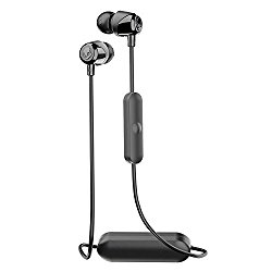 Skullcandy Jib Bluetooth Wireless In-Ear Earbuds with Microphone for Hands-Free Calls, 6-Hour Rechargeable Battery, Included Ear Gels for Noise Isolation, Black