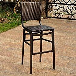 International Caravan Barcelona Bar Stools in Antique Brown (Set of 2)