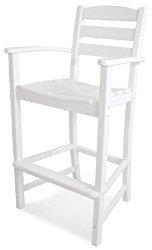 POLYWOOD TD202WH La Casa Café Bar Arm Chair, White