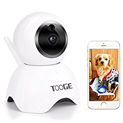 TOOGE Pet Camera, Dog Camera by 720P Pet Monitor Indoor Cat Camera Night Vision 2 Way Audio and Motion Detection(UPDATED)