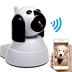 Wireless IP Camera Security Camera 720P HD Baby Monitor Dog Pet Nanny IP Cam Pan/Tilt with Motion Detection Two-Way Audio Night Vision