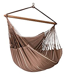 LA SIESTA Habana Chocolate – Organic Cotton Lounger Hammock Chair