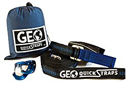 Hammock Straps XL (2) Quickstraps-New Design, Camping, Hammocking 2 Carabiners Set – Heavy Duty Portable Tree Friendly Easy Adjustable Hammock Accessories | Compatible w/all Camping Hammocks – By GEO