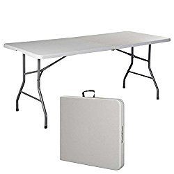 Generic YanHongUS150713-69 8yh0874yh g Camp Tables Indoor Outdoor Picnic Par 6′ Folding Table 6′ Foldin Picnic Party Dining Plastic I Portable Plastic able Port Camp Tables
