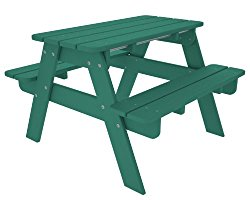 Polywood Kids Picnic Table in Slate Grey