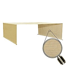 Alion Home Custom HDPE Permeable Canopy Sun Shade Cover Replacement with Rod Pockets for Pergola (16′ x 8′, Banha Beige)