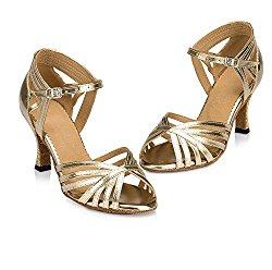 WYMNAME Womens Latin Dance Shoes,High Heels Soft Bottom Indoor Sandals International Standard Ballroom Dancing Shoes
