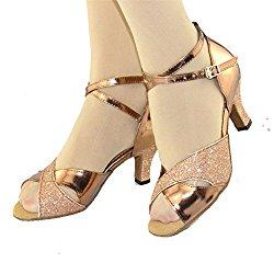 WYMNAME Womens Latin Dance Shoes,Soft Bottom Dancing Shoes Modern High Heels Friendship Dance Shoes