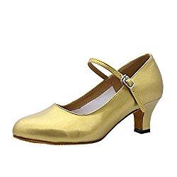 ZEVONDA Comfortable Tango Women's Round Toe Ballroom Latin Salsa Waltz Dance Shoes