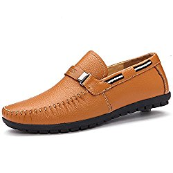 WQX Mens Slip-On Leather Shoes Oxfords Walking Shoes Comfortable Oxfords