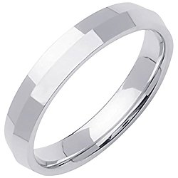 Platinum Traditional Knife Edge Men's Comfort Fit Wedding Band (4mm)