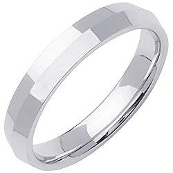 Platinum Traditional Knife Edge Men's Comfort Fit Wedding Band (4mm)