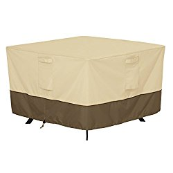 Classic Accessories Veranda Square Patio Table Cover – Durable and Water Resistant Patio Furniture Cover, Medium (55-566-011501-00)