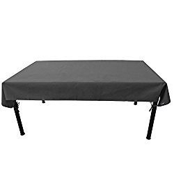 Duraviva Outdoor Patio Table Weatherproof Cover – Waterproof, Easy to Install – Fits Rectangular/Oval Tables within 55 x 85 inches
