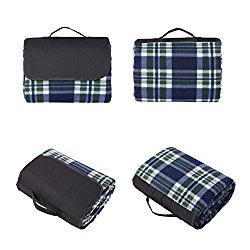 Sunshine Outdoor Water Resistant Picnic Blanket Extra Large Travel Blanket with Waterproof Backing Beach Blanket 60 X 80 Inch