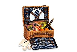 Picnic Plus Wynberrie 4 Person Picnic Basket With Insulated Cooler Section