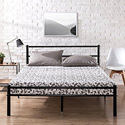 Zinus Metal Platform Bed Frame with Headboard and Footboard / Premium Steel Slat Support / Mattress Foundation, Queen
