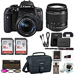 Canon Rebel T6i DSLR Camera w/18-55mm lens + Promotional Holiday Bundle