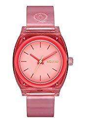 Nixon A1215-685 Medium Time Teller P Women's Watch Coral 31mm Polycarbonate