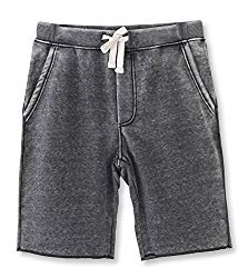 HETHCODE Men's Casual Classic Fit Cotton Elastic Fleece Jogger Gym Shorts Burnout Gray XL