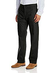 Lee Men's Performance Series Extreme Comfort Khaki Pant, Black, 36W x 32L