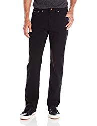 LEE Men's Premium Select Regular Fit Straight Leg Jean, Double Black, 40W x 34L