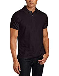 Lee Uniforms Men's Short Sleve Uniforms Polo, Black, Large