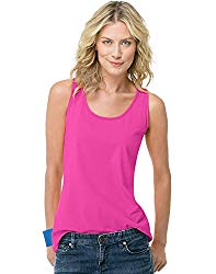 Hanes Live.Love.Color Scoop Neck Tank 9002, L, Amaranth