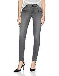 NYDJ Women's Uplift Alina Skinny Jeans in Future Fit Denim, Alchemy with Zippers, 6