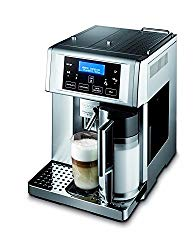 DeLonghi Gran Dama Avant Milk Super Automatic Espresso Machine, Cappuccino and Coffee Maker with Milk Frother, Stainless Steel, ESAM6700