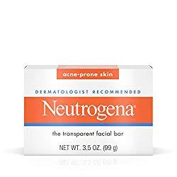 Neutrogena Acne-Prone Facial Bar, 3.5 Ounce Box (103ml) (Pack of 2)