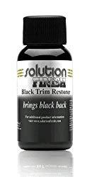 Solution Finish Black Plastic & Vinyl Restorer – Use for Car and Truck Detailing – 1 oz.