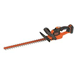 BLACK+DECKER LHT321BT Smartech Max Lithium Power Cut Hedge Trimmer, 22″