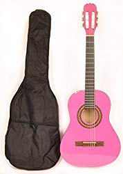 Omega Class Kit 3/4 MPN Pink Left Handed 3/4 Size Acoustic Guitar w/Free Carry Bag