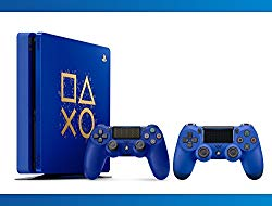 Playstation 4 1TB Limited Edition : Days Of Play Console + DualShock 4 Wireless Controller Wave Blue + NBA 2k17 Bundle ( 3 – Items )