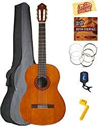 Yamaha C40 Classical Guitar Bundle with Gig Bag, Tuner, Strings, String Winder, Austin Bazaar Instructional DVD, and Polishing Cloth