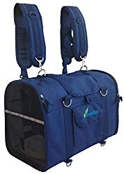Natuvalle 6-in-1 STURDY Pet Carrier Backpack, Front Pack, Shoulder Bag, Hand Bag, Soft-Sided pet Carrier, Pet Travel Carrier by Ltd.