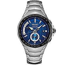 Seiko Men's Radio Sync Solar Coutura Silvertone Watch