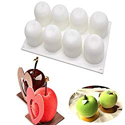 3D Apple Shape Nonstick Silicone Cake Chocolate Fondant Mold,Christmas Eve Decorating Bakeware/DIY Mousse Cake /French Dessert/ Pastry Baking/Ice Tools