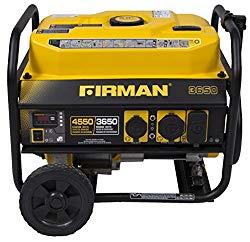 Firman P03602 Performance Series 4550/3650 Watt Gas Electric Start Generator, cETL, CARB, Black