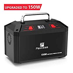 Paxcess 150W Portable Power Station 178Wh 48000mAh Solar Generator CPAP Battery for Camping Power Supply with 110V AC Outlet, 3 DC 12V Ports, 2 USB Outputs for CPAP/Home/Camping