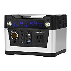 QUESVOW 280WH Portable Generator Rechargeable Lithium Battery Pack Solar Generator Power Station with 110V AC Outlet,DC output,USB Output for CPAP Backup Emergency,Hurricane, Storm and Outage,Camping