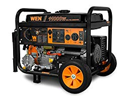 WEN DF1100 11,000-Watt 120V/240V Dual Fuel Portable Generator with Wheel Kit and Electric Start – CARB Compliant