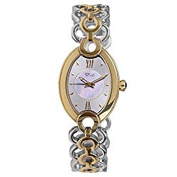 Daniel Steiger Cassera Luxury Two-Tone Watch – Water Resistant – Premium Grade Solid Stainless Steel Case – Luxurious Mother of Pearl Dial – Precision Quartz Movement