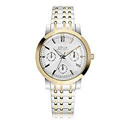 Daniel Steiger Concerto Luxury Two-Tone Ladies Watch – Water Resistant – Multi-Link Adjustable Bracelet – Precision 3 Hand Movement – Day, Date & 24hour Subdials