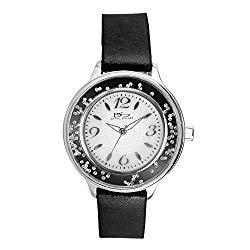 Daniel Steiger Sorrento Ladies Luxury Steel Watch – Water Resistant – Floating Diamondeau in the Dial – Premium Grade Stainless Steel – Five Year Movement Warranty