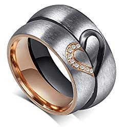 """Global Jewelry Brand New Amazing Titanium Stainless Steel """"We Love Each Other"""" Wedding Band Set Anniversary/engagement/promise/couple Ring Best Gift!"""